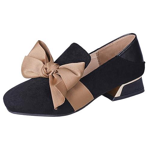Bowknot Mocasines Planos para Mujer, Zapatos Comodos Plataforma, Zapatillas Náuticos Adecuado para Oficina y Uso Diario: Amazon.es: Zapatos y complementos