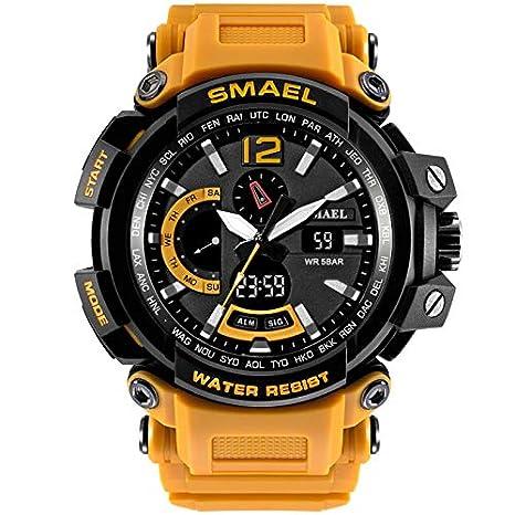 VEHOME Hombre Reloj Inteligentes Deportivo SMAEL - Reloj Digital - Reloj electrónico para Caballero LED- relojero Reloj reloje - Marcas Deportivos: ...