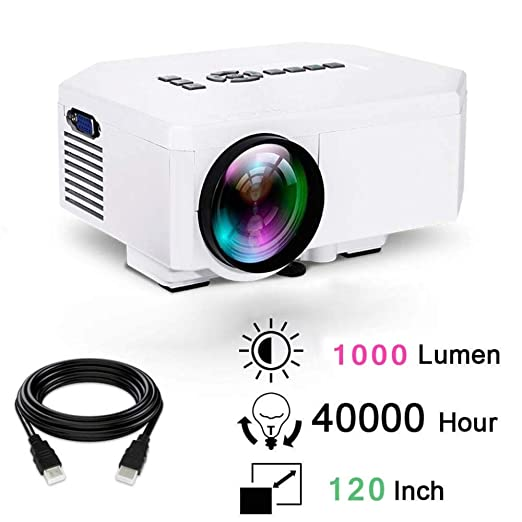 KAIDILA LCD HD Video Proyector 1000 lúmenes Multimedia LED ...