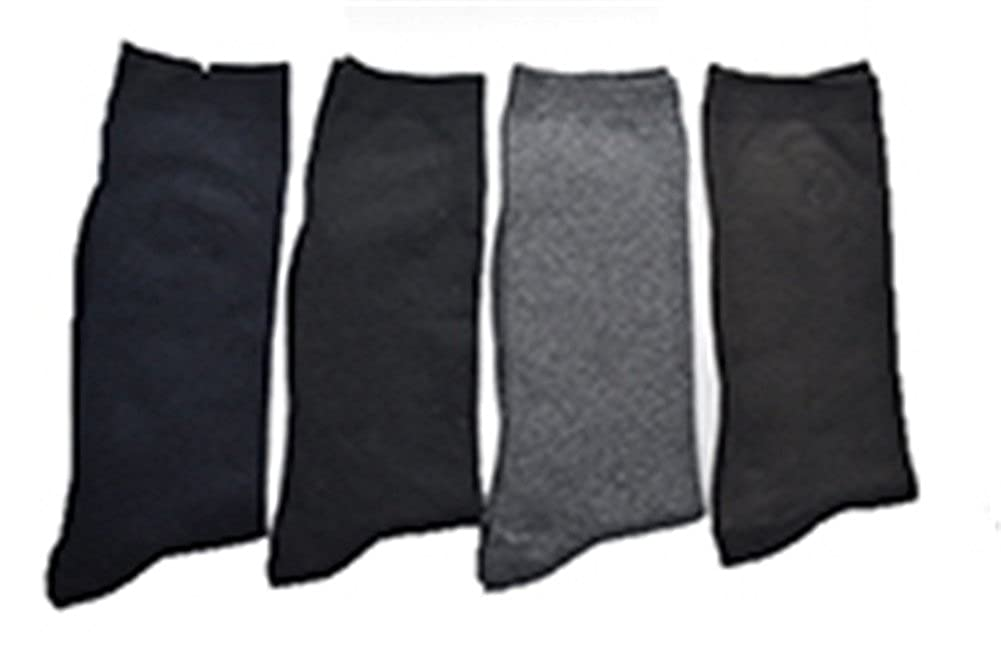4 pairs US6.5-11 warm acrylic cotton long leg socks men dress business socks calcetines at Amazon Mens Clothing store: