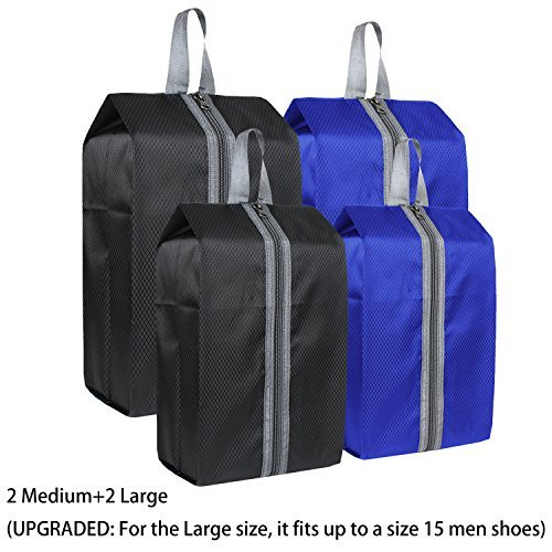 986f6a7a821d Zmart Portable Travel Shoe Bags with Zipper for Men Waterproof Nylon  Traveling Shoe Storage Organizer Packing