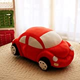Funny Soft Plush Car Shape Toy for child, kid, baby, 30cm (Red)