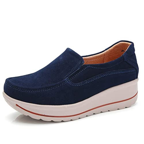 Las Mujeres Zapatos Mocasines Zapatillas Mocasines Pisos Plataforma Señoras Oscilación Casual Cuñas Bajas Calzado: Amazon.es: Zapatos y complementos