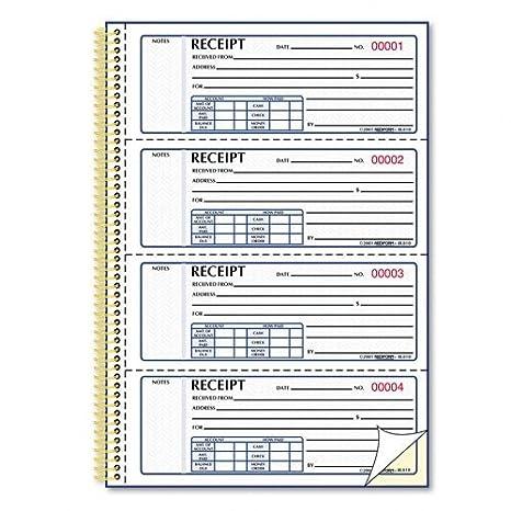 amazon com red8l810 rediform money receipt book blank receipt