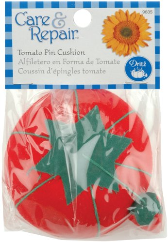 (Dritz 9635D Tomato Pin Cushion with Emery Sharpener )