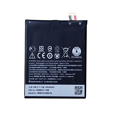 UoUo B0PKX100 Battery Replacement For HTC Desire 626 3.85V 2000mAh Li-ion Battery