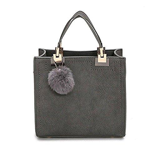 (Women PU Leather Pendant Top Handle Bag Tote Shoulder Bags Handbags Purse Small Crossbody Bag)