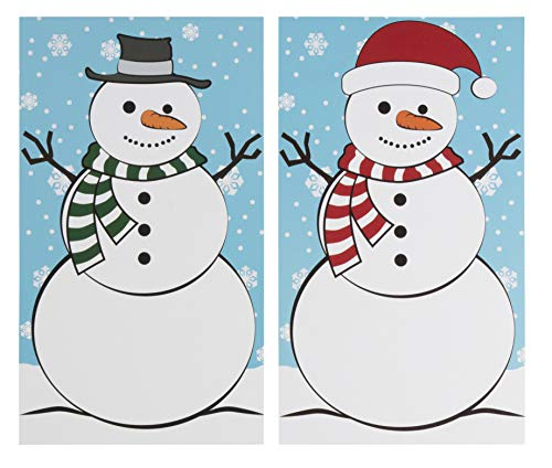 Build A Snowman Christmas Game - 16-Set Family Holiday Party Supplies Activity Kit, 2 to 16 Multi-Player Team Game, Winter Fun for Kids and Adults