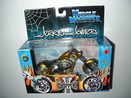 Diablo Chopper (Muscle Machines West Coast Choppers Jesse James El diablo Ricio Gold 1:18 Scale Die Cast Motorcycle)