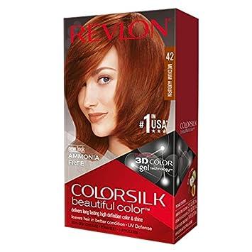 Revlon ColorSilk Hair Color, 42 Medium Auburn 1 ea (Pack of 9)