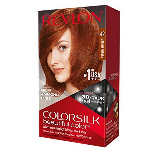 Revlon ColorSilk Hair Color, 42 Medium Auburn