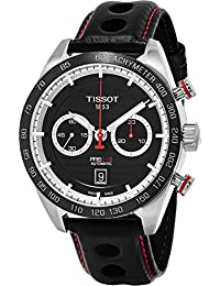 Tissot Men's 'Prs 516' Swiss Automatic Stainless Steel and Leather Dress Watch, Color:Black (Model: T1004271605100)