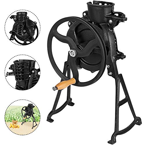 (Happybuy Threshing Rate 98% Hand Corn Sheller with Wooden Handle Cast Iron Manual Corn Thresher Heavy Duty Corn Shelling Machine for Small Farm and Household Usage)