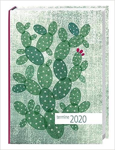 times/&more Kaktus gr/ün Kalenderbuch Wochenkalendarium Format 11 x 15 cm gebunden Taschenkalender 2020