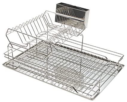 Amazon Com Polder Stainless Steel 2 Tier Dish Rack