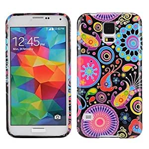 LZXColorized Fish Pattern Ultra-slim Smooth Soft Gel TPU Case for Samsung Galaxy S5 I9600
