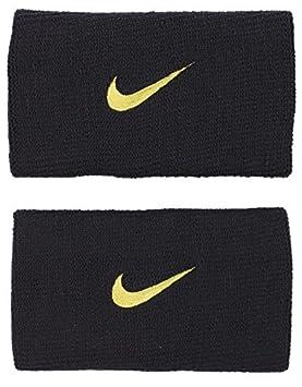 Nike Roger Federer Pro muñequeras de tenis Rafael Nadal, negro/dorado: Amazon.es: Jardín
