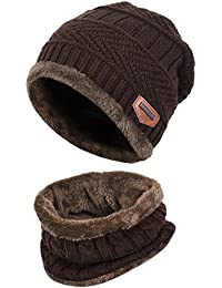 Kids Winter Hat and Scarf Set 2-Pieces Warm Knit Beanie...