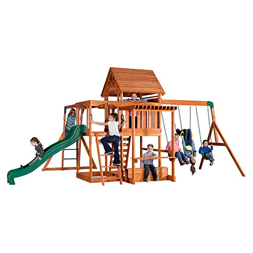 Backyard Discovery Monticello All Cedar Wood Playset Swing ()