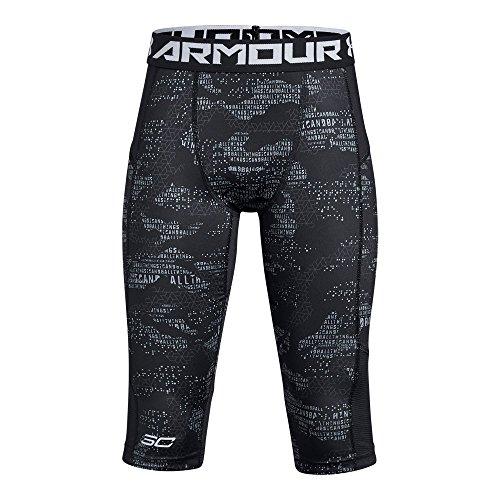 - Under Armour Boys SC30 Leggings, Black (001)/White, Youth Medium