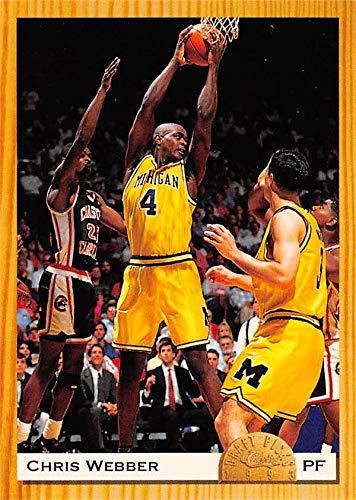 wholesale dealer 936d9 224a0 Chris Webber basketball card (Michigan Wolverines, Fab Five ...
