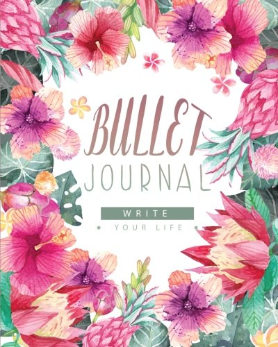 Bullet journal and quarterly planner with blank yearly & monthly calendar Has habit tracker,Size 8