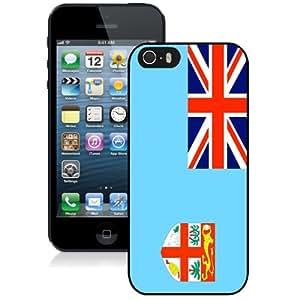 NEW Fashion Custom Designed Cover Case For iPhone 5S Fiji Flag Black Phone Case