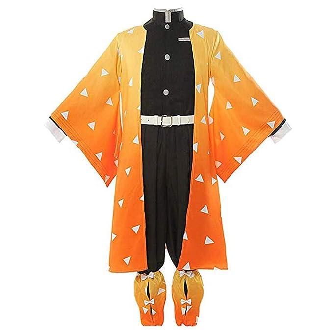 Amazon.com: MYYH Anime Agatsuma Zenitsu Disfraz de cosplay ...