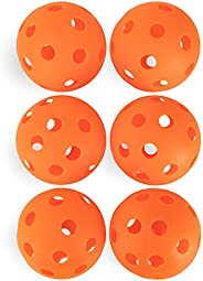 Crown Sporting Goods 12-inch Plastic Softballs, 6-Pack - Plastic Perforated Practice Balls for Sports Training