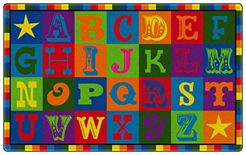 Early Blocks Kids Area Rug 5'x8' by Koeckritz
