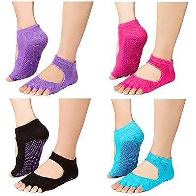 Yoga Socks Silicone Non Slip Skid Cotton Pilates toeless Socks for Women hot sale