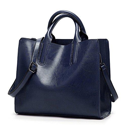 2018 Mujeres Messenger Bags Soft Mujeres Crossbody Bag Designer Women Pu Bolsos de cuero Alta calidad Mujeres Bolsas, Marrón oscuro Dark Blue