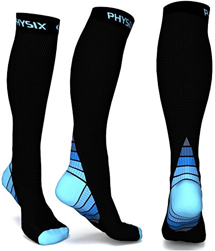 Physix-Gear-Compression-Socks-for-Men-Women-20-30-mmhg-Best-Graduated-Athletic-Fit-for-Running-Nurses-Shin-Splints-Flight-Travel-Maternity-Pregnancy-Boost-Stamina-Circulation-Recovery