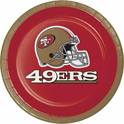 San Francisco 49ers Dessert Plates, 24 ct