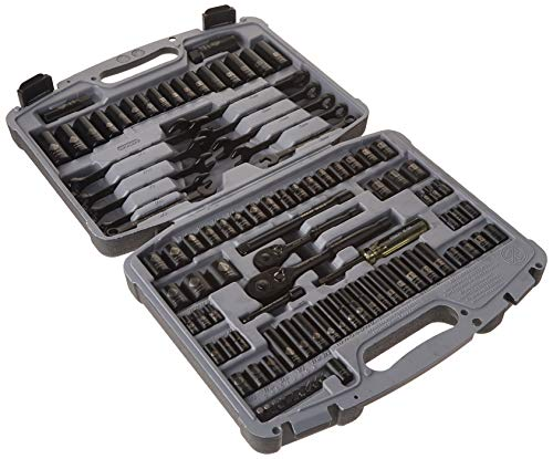 - Stanley 92-839 Black Chrome and Laser Etched Socket Set, 99-Piece