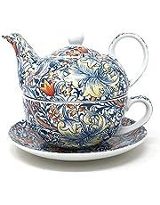 Juego de té de porcelana fina de Golden Lily para uno
