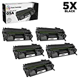 LD Compatible Toner Cartridge Replacement for HP 05A CE505A (Black, 5-Pack)
