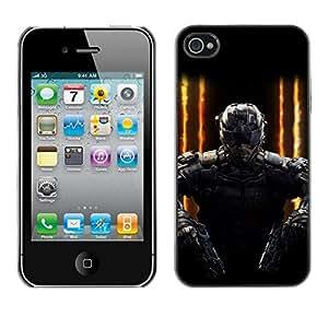 Caucho caso de Shell duro de la cubierta de accesorios de protección BY RAYDREAMMM - iPhone 4 / 4S - SWAT Doble arma