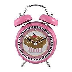 Silent Sweep No Tick Tock Talking Alarm Clock Cupcake