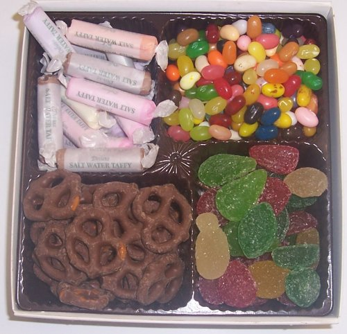 Scott's Cakes Large 4-Pack Pectin Fruit Gels, Dark Pretzels, Salt Water Taffy, & Assorted Jelly Beans