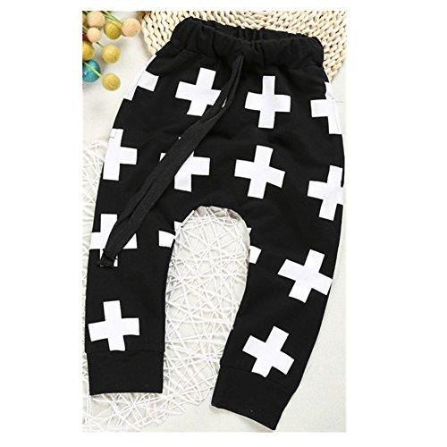 ftsucq-boys-girls-leggings-cross-pattern-harem-pants-trousers-black-110