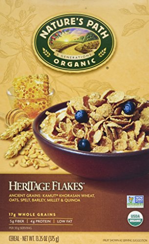 Nature's Path, Organic Heritage Flakes Cereal, 13.25 oz (375 g) Nature's Path, Organic Heritage Flakes Cereal, 13.25 oz (375 g) - 2pcs