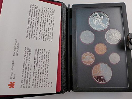 1983 Canadian Proof Set 7 Piece with Silver Dollar Mint State