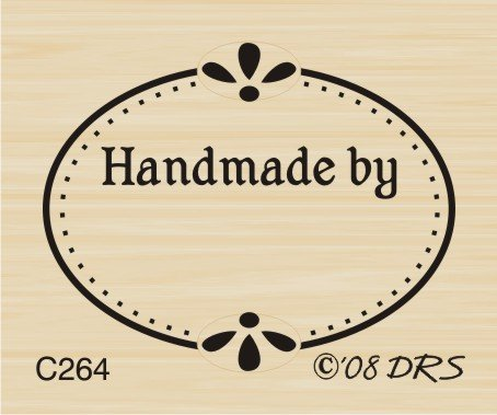 - Oval Handmade Recognition Rubber Stamp By DRS Designs