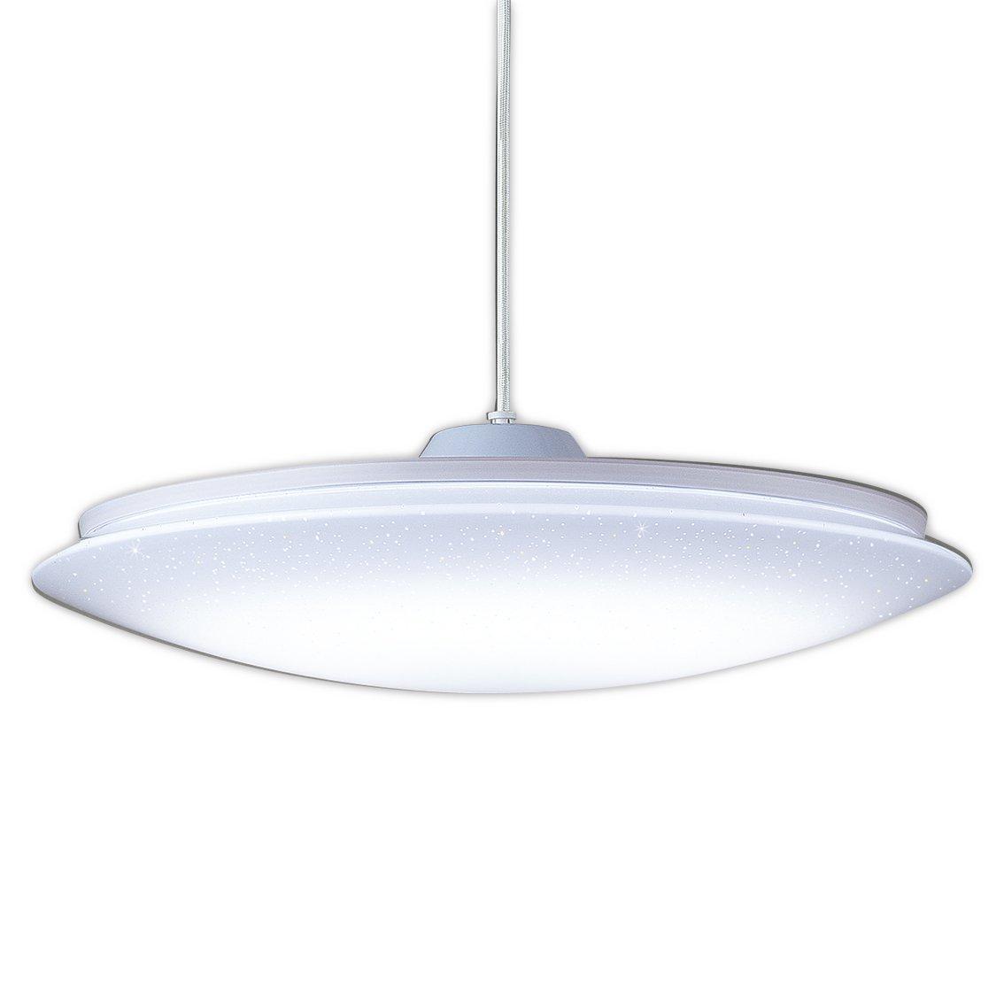 東芝ライテック LED居室用ペンダント キラキラ 透明乳白シルク印刷 8畳 B00IJPL1GK  コード有効長50cm