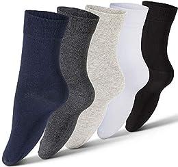 Best Price Plain Cotton Socks For Men 5 Pack Mens Casual Dress Athletic Crew Socks