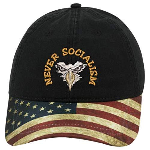 Flag Black Never Socialism Eagle Hat