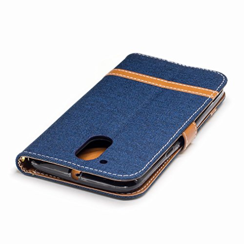 Patrón Diseño Cáscara Para Funda De Piel Plus G4 Protector Billetera Moto Estuches Carcasa Motorola azul Cover Tapa Tarjetas Ranura Yiizy Estilo Vaquero Cuero Oscuro Tpu Silicona nq1UwYzY