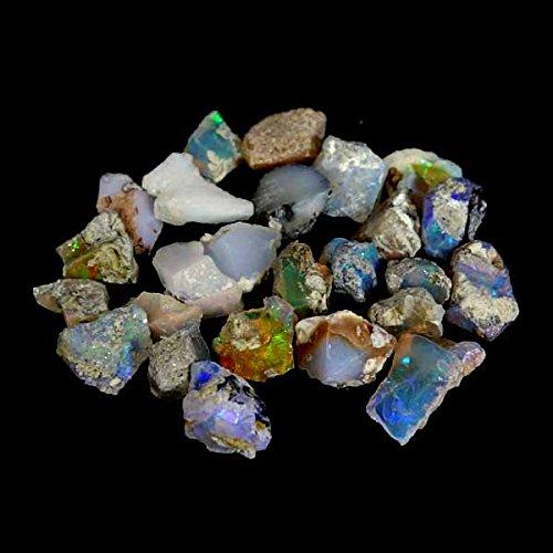 GovindStore 43.15Cts. 100% Natural Multi Fire Ethiopian Opal Welo Rough Wholesale Lot