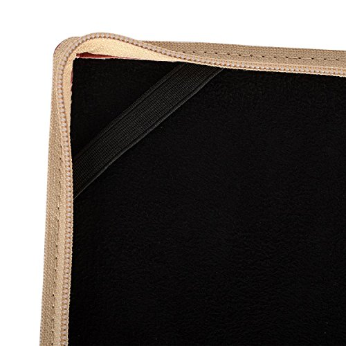 MOSISO PU Leather Zippered Case Only for MacBook Pro 13 Inch with Retina Display No CD-ROM (A1502 / A1425, Version 2015/2014 / 2013 / end 2012), Vintage Classic Premium Book Sleeve Cover, Wine Red by MOSISO (Image #6)